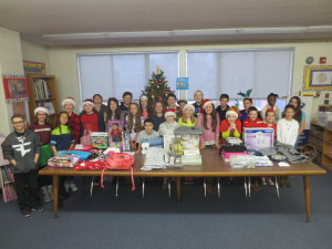 Student Council Christmas clothes collection 2016